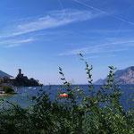 die ersten Blicke über den wunderschönen Gardasee
