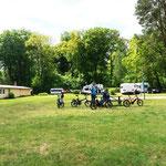 wir schauen uns den Campingplatz in Seilershof an (blöd und noch teurer)