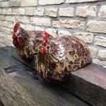 "Keramik-Hühner in ""Anis"""