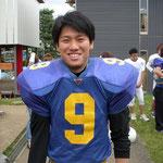 Nishiyama Takeshi #9 WR/CB