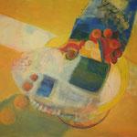 201 Im Laufe der Zeit, Acryl auf Leinwand, Brigitte Reich, 80 x 100 cm