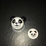 """Motivperle """"3DPanda"""" und Pandascheibe"""
