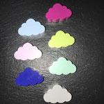 """Motivperle """"Wolke"""" (babyblau, rosa, dunkelblau, dunkelpink, lemon, mint, hellgrau)"""