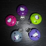 Motivclip Hello Kitty  (purpur, apfel, blaulila, grau, dunkelpink)