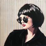 Lady in black ll 100x100