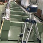レーザートラッカー 検査 旋盤 現場計測 大型構造物計測