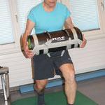 Tandemschritt li Bein vor / re Bein hinten