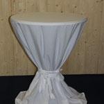 Stehtisch Kunststoff grau mit Husse