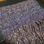 手織りマフラー紫 約25cm×160cm ¥8000