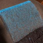 手織りマフラー青 約25cm×160cm ¥6000