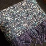 手織りマフラーブルー 約25cm×160cm ¥8000