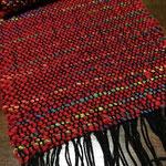 手織りマフラー赤 25cm×160cm ¥8000