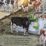 Moderne Landwirtschaft von heute im Kinderbuch: mit SCHURR Kuhbürste