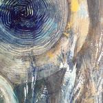 Pittura acrilica su tela, dettaglio