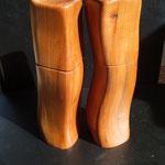 Pfeffermühle, Salzmühle Set Apfel Holz Unikat Einzelstück Gewürzmühle handarbeit design Set
