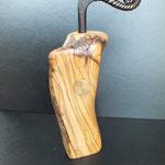Pfeffermühle Olive mit Kurbel Holz Unikat Einzelstück Gewürzmühle handarbeit design