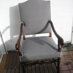 fauteuil Louis XIV aprés tissu Kobe