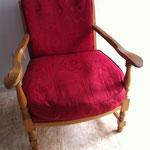 fauteuil avant bois clair