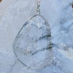 Phantomquarz auf 925er Silber, 47 x 27 x 12mm, 18gr.     €28