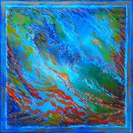Reflets sur l'eau - Aquarelle cm- 40X40 - Disponible