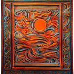 Le soleil sur la mer - 56 X 76 -cm  Disponible