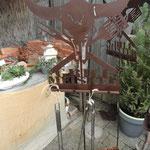 für die Grillmeister unter den Herren, Gartenstab Grillbesteckhalter.