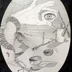 """Ilustración """"Investigación"""", 1996."""