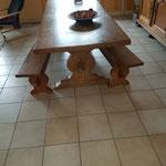 Relookage + modification piétement table AVANT