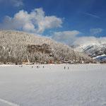 Winterlandschaft Blick richtung Loipe