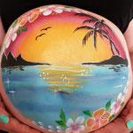 Sonnenuntergang am Meer Bellypainting