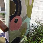 Réfection fauteuil Bridge : tissu Cosmos coloris Poudre de Lalie Design