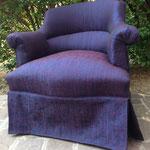 Réfection tissu fauteuil crapaud - Tissu Assam de JAB