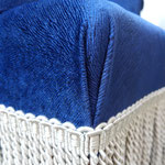 Réfection fauteuils crapauds - Tissu Pistoia JAB et franges Scarlett Houlès