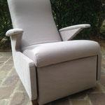 Réfection partielle fauteuil Erton avec repose pied intégré - Tissu Dillan de JAB