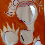 "curtain ""KUCK- KUCK"", 2020, acrylic paint on sewed canvas, 190 x122 cm"