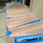 Anfertigung von Holzstufen- Eichenstufen
