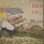"""""""Need a Taxi...?"""" Öl auf Leinwand / 100 x 80 cm / 2019----CHF 2'500----"""