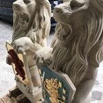 Reconstructie leeuwsculpturen