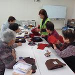 大阪からパッチワークの先生もいらしていました。やっと一緒に参加できました。