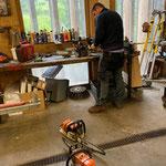 Motorsägen-Pflege in der Werkstatt