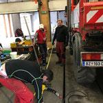 Vorrichtung konstruieren für hydraulischen Bohrhammer zum Schneestangensetzen am U400