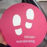 Die ersten Winterwanderwegschilder sind angekommen!