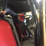 Traktor Innenreinigung
