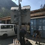 Lawinenorgel zusammenbauen und vervollständigen am Bauhof