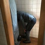 Tennishütte Waldbad, Instandsetzungsarbeiten WC- und Sanitäranlagen