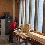 Holzsteher für Schilder Snow/Safety-Conference LZTG konstruieren