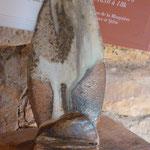 Porte-cartes grès cuisson bois décor cendre de lavande - Sylvie Ruiz Foucher-