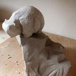 Intérieur atelier Bouquet de Flammes - Petit Ours de Caco au séchage -