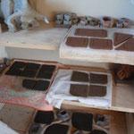 Intérieur atelier Bouquet de Flammes - Armoire de séchage -