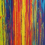 KERSTIN SOKOLL, beam me up 2, 2017, J003, 100 x 100 cm